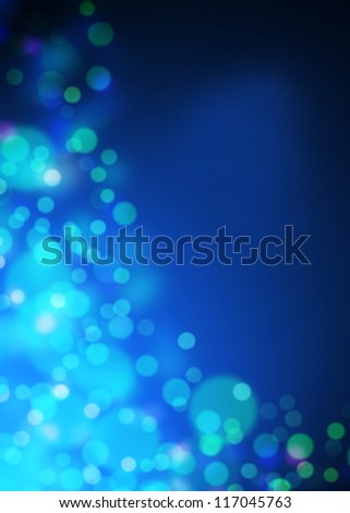 blue bokeh abstract light background with space your text - stock photo