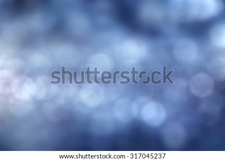 blue bokeh abstract natural holidays background - stock photo