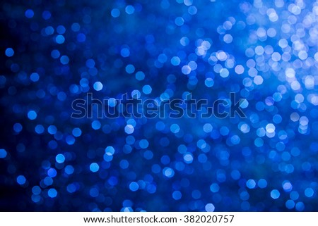 blue bokeh lights defocused. abstract background - stock photo