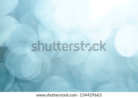Blue bokeh shot. Abstract background - stock photo