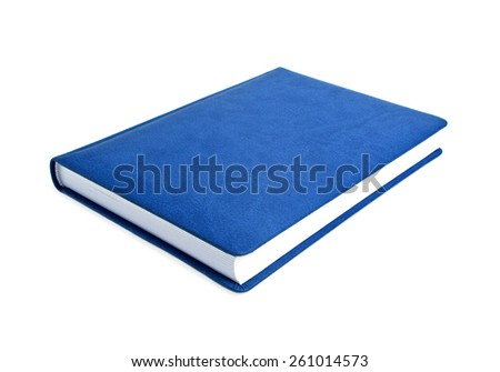 Blue book on a white background - stock photo