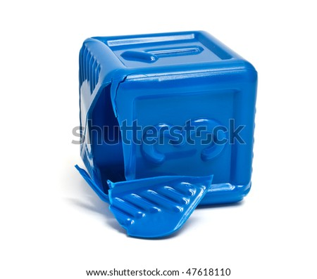 blue brick - stock photo
