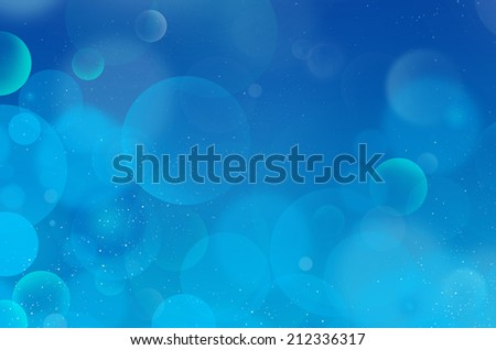 Blue bubble abstract background - stock photo