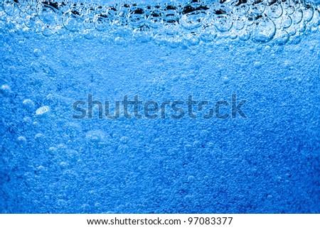blue bubble background close up - stock photo