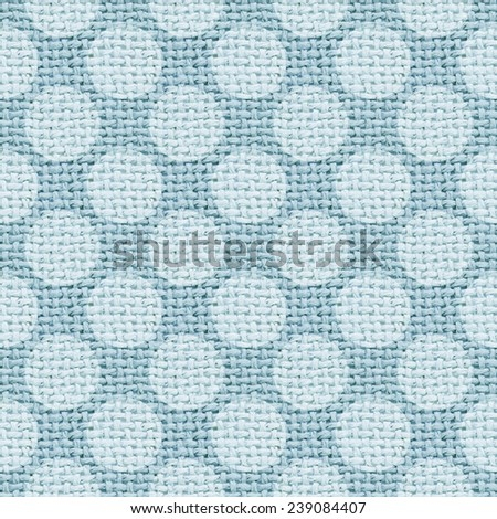 blue burlap texture digital paper with polka dots - tileable - stock photo