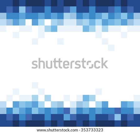 blue business background with mosaic effect. JPG version - stock photo