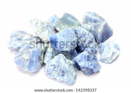 blue calcite - stock photo
