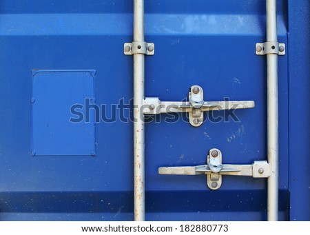 blue cargo freight container shipping texture background - stock photo