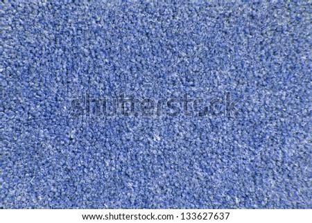 blue carpet texture macro - stock photo