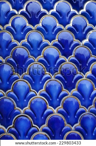 Blue Ceramic Background  - stock photo
