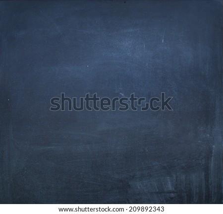 Blue Chalkboard, school theme, vintage background - stock photo