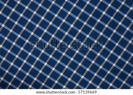 blue checkered tablecloth - stock photo