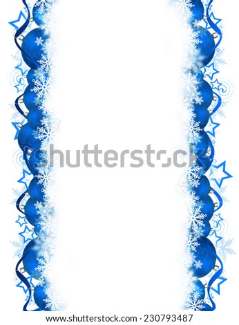 Blue Christmas background for your design. - stock photo