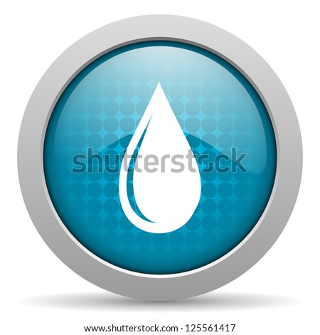 blue circle glossy web icon with pictogram on white background - stock photo