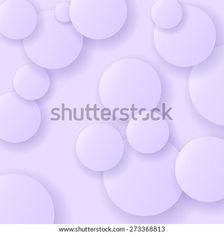 Blue Circle Modern Background. Blue Paper Circles. - stock photo