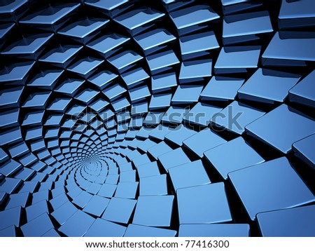 blue circular pattern abstract background - stock photo