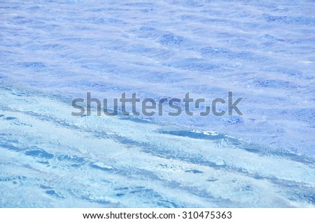 Blue Clear Ripple Water Background - stock photo
