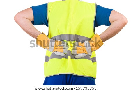 Blue collar worker.  - stock photo