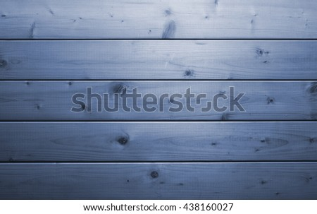 blue color image of raw wooden background  - stock photo