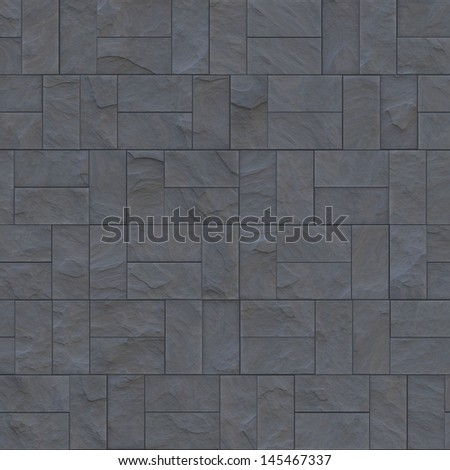 blue concrete wall - stock photo