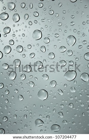 Blue Cooling  color Water Drop background - stock photo