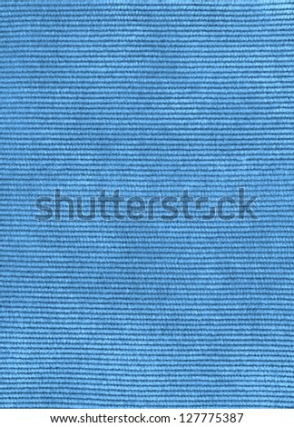 Blue corduroy texture background - stock photo
