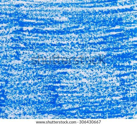 blue crayon background - stock photo