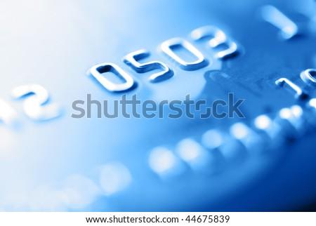 blue credit card - stock photo