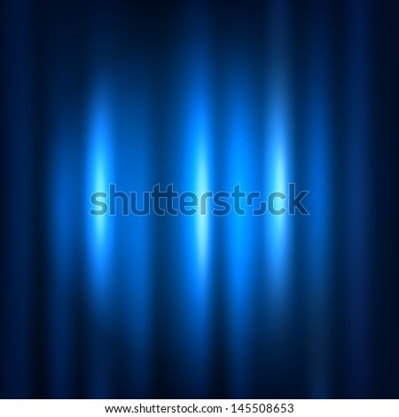 Blue curtain with spot light. Raster copy  - stock photo