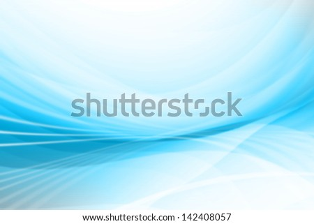 Blue Curved Lines Abstract Background - stock photo