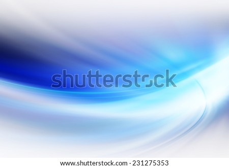 Blue Curves Abstract Background - stock photo