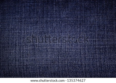 Blue dark jeans as background - stock photo