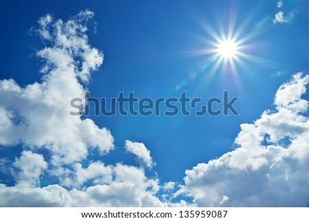 Blue deep sky. Nature composition. - stock photo