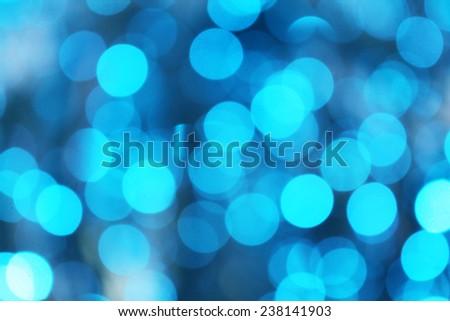 Blue defocused lights background - stock photo