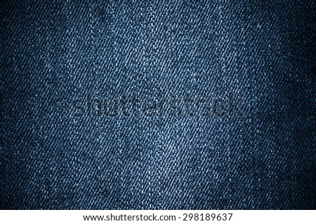 Blue denim jeans closed up texture. - stock photo