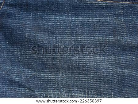 blue denim jeans texture background - stock photo
