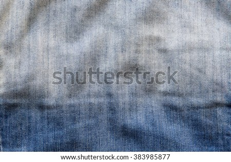 Blue denim jeans texture or background - stock photo