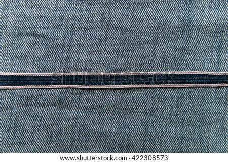 blue denim seam jeans inside texture - stock photo