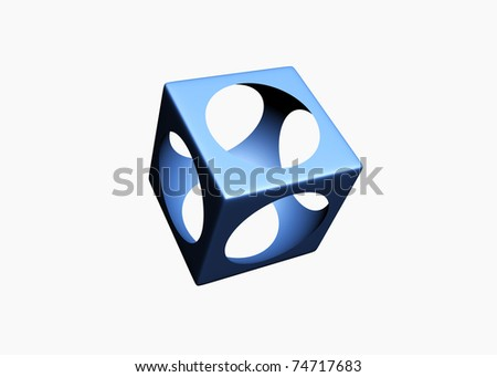 Blue design element - this is 3d illustration - stock photo