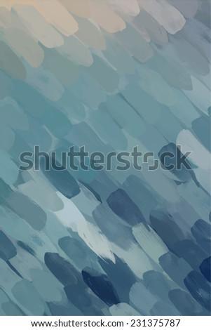 Blue diagonal brush stroke paint. Abstract illustration. - stock photo
