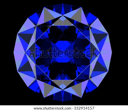 blue diamond - stock photo
