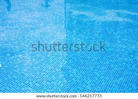 Blue dirty tiles in Bathroom With Water Drops  - stock photo