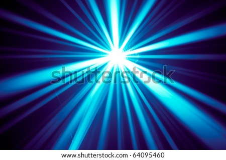 blue disco rays - stock photo