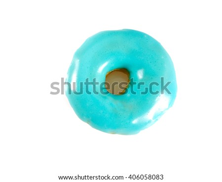 blue doughnut - stock photo