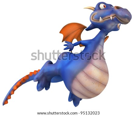 Blue dragon - stock photo