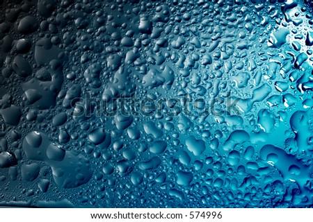 blue drops texture - stock photo