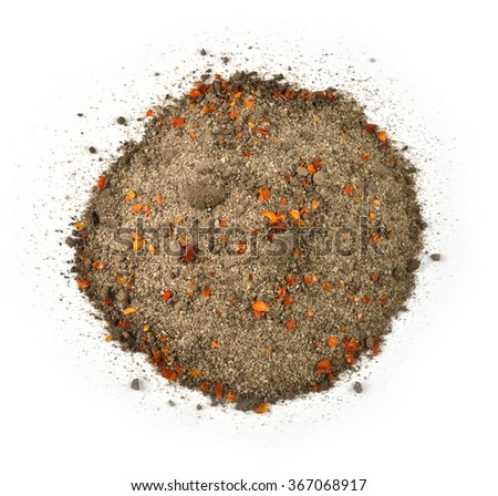 blue earth with amber grains - stock photo