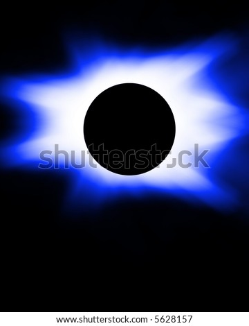 Blue eclipse - stock photo