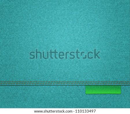 Blue Fabric Texture - stock photo