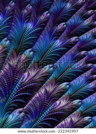 Blue feather pattern design background - stock photo
